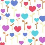 цветет безшовное сердца пастельное Стоковое фото RF
