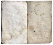 παλαιό έγγραφο σημειώσεων βιβλίων Στοκ Φωτογραφία