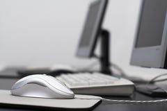 课堂计算机鼠标 免版税库存照片