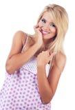 白肤金发的妇女 免版税库存图片