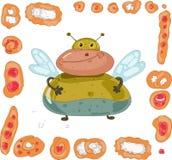κουλουριών πίτες μυγών που τίθενται παχιές Στοκ Εικόνα