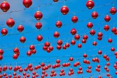 κινεζικά φανάρια πολύ κόκκινο Στοκ φωτογραφίες με δικαίωμα ελεύθερης χρήσης