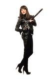 μαύρο θηλυκό πυροβόλο όπλο Στοκ φωτογραφίες με δικαίωμα ελεύθερης χρήσης