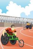 种族轮椅 免版税库存图片