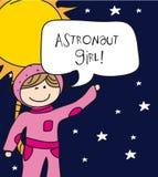 κορίτσι αστροναυτών Στοκ Εικόνες