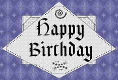年龄生日设计愉快的中间名 免版税库存照片