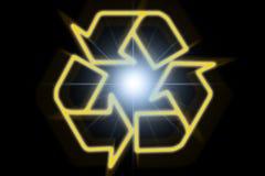 光芒回收符号星期日 免版税库存图片