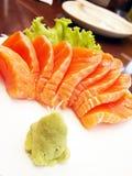 三文鱼生鱼片 库存图片