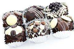 微型蛋糕的巧克力 库存照片