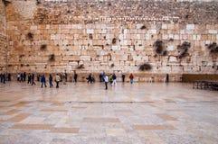 стена Иерусалима западная Стоковое Изображение
