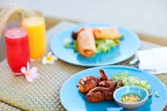 ασιατικά εύγευστα τρόφιμα Στοκ Εικόνες