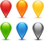 χρωματισμένο σύνολο καρφιτσών Στοκ Εικόνα