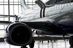 发光的飞机 免版税库存照片
