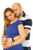 秀丽夫妇拥抱 库存图片