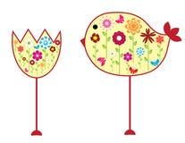 λουλούδι πουλιών Στοκ φωτογραφία με δικαίωμα ελεύθερης χρήσης