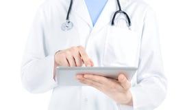 数字式医生个人计算机片剂工作 库存照片