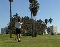 打高尔夫球 库存图片