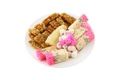 китайское венчание тарелки десерта Стоковая Фотография