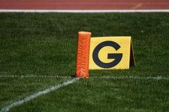 линия ворот американского футбола Стоковое Фото