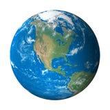 美国地球模型北部空间视图 免版税库存照片