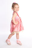 小的女婴舞蹈演员微笑 免版税库存照片