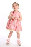 与小珠的一点女婴舞蹈演员作用 库存照片
