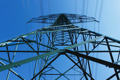 опора электричества Стоковые Фотографии RF