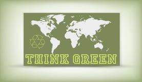 зеленый цвет думает Стоковые Фото