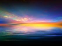 заход солнца фрактали Стоковые Изображения