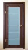 коричневая дверь Стоковое фото RF