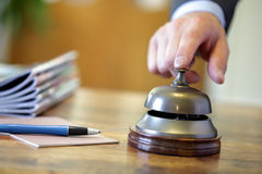 响铃旅馆服务 免版税库存图片