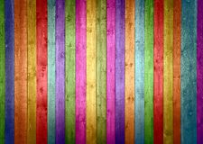 木五颜六色的板条 库存图片