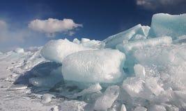 纯的冰 免版税库存照片