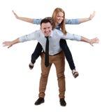 有夫妇的乐趣年轻人 库存照片