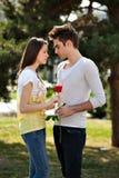 ρομαντικές νεολαίες εραστών Στοκ Εικόνα