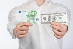 человек евро доллара Стоковая Фотография RF
