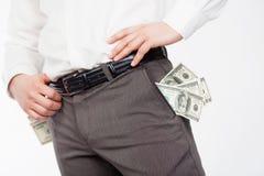 доллары человека Стоковое Фото