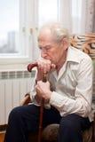 παλαιός λυπημένος ατόμων Στοκ Εικόνες
