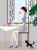 выпивая чай Стоковое фото RF
