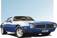 蓝色汽车肌肉 免版税库存照片