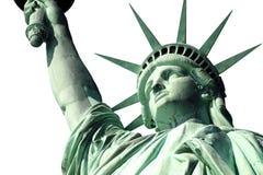 查出的自由雕象白色 免版税图库摄影