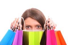 购物的惊奇 免版税库存照片