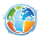 五颜六色的地球世界 免版税库存照片
