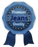 джинсовая ткань знамен Стоковые Фото