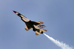 空军指明团结的雷鸟 免版税图库摄影