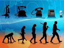 τηλέφωνο εξέλιξης Στοκ Εικόνα