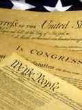 团结的宪法文件历史状态 免版税库存照片