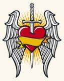 крыла шпаги сердца Стоковая Фотография RF