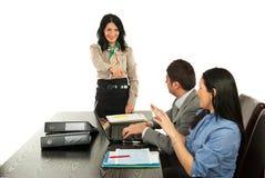 指向妇女的业务经理 库存照片