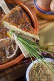посоленный рис торта Стоковое фото RF